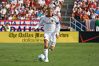 LA Galaxy midfielder David Beckham (23) takes the ball up field in his team's 4-0 lose to FC Dallas. LA Galaxy vs FC Dallas at Pizza Hut Park Frisco, Texas July 27, 2008 Final Score 0-4.
