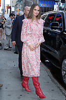 NEW YORK, NY - AUGUST 6: Debby Ryan seen at Good Morning America in New York City on August 6, 2018. <br /> CAP/MPI/RW<br /> &copy;RW/MPI/Capital Pictures
