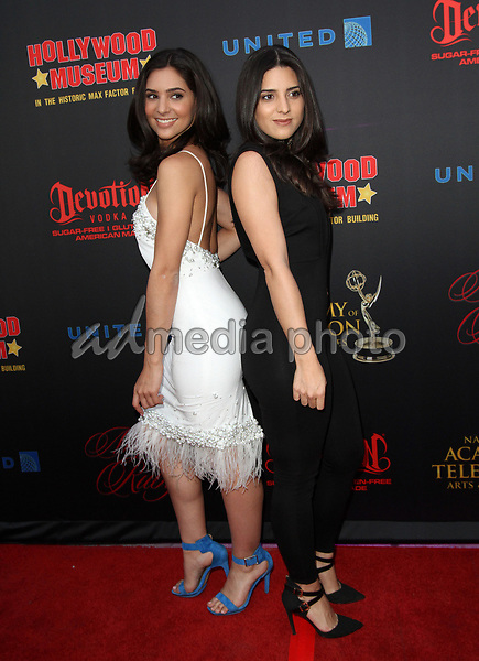 26 April 2017 - Los Angeles, California - Camila Banusand sister Gabi Banus. Daytime Emmy Awards Nominee Reception held at The Hollywood Museum in the world famous Max Factor Building. Photo Credit: AdMedia