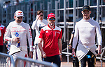 Neel Jani (l) of Switzerland from DRAGON, Nick Heidfeld (c) of Germany from Mahindra Racing and Andre Lotterer of Belgium from TECHEETAH attend the Drivers' Parade during the FIA Formula E Hong Kong E-Prix Round 1 at the Central Harbourfront Circuit on 02 December 2017 in Hong Kong, Hong Kong. Photo by Marcio Rodrigo Machado / Power Sport Images