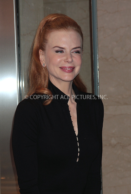 WWW.ACEPIXS.COM . . . . .  ....October 7 2009, New York City....Actress Nicole Kidman visits the Omega Flagship Boutique to donate her signed OMEGA Constellation watch to the 'Ambassador Collection Series' on October 7, 2009 in New York City.....Please byline: AJ Sokalner - ACEPIXS.COM..... *** ***..Ace Pictures, Inc:  ..tel: (212) 243 8787..e-mail: info@acepixs.com..web: http://www.acepixs.com