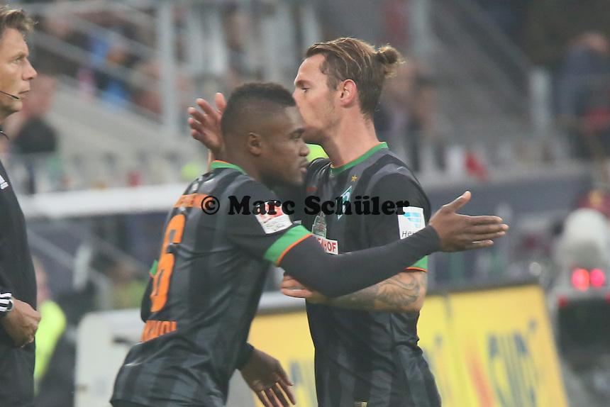 Ludovic Obraniak (Werder) wird ausgewechselt, Cedric Makiadi (Mainz) kommt - 1. FSV Mainz 05 vs. SV Werder Bremenl, Coface Arena