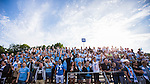 V&auml;llingby 2014-07-06 Fotboll Allsvenskan IF Brommapojkarna - Malm&ouml; FF :  <br /> Malm&ouml;s supportrar p&aring; l&auml;ktaren p&aring; Grimsta IP<br /> (Foto: Kenta J&ouml;nsson) Nyckelord:  BP Brommapojkarna IFB Grimsta Malm&ouml; MFF supporter fans publik supporters