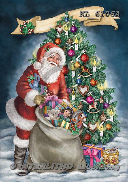 Interlitho-Dani,CHRISTMAS SANTA, SNOWMAN, WEIHNACHTSMÄNNER, SCHNEEMÄNNER, PAPÁ NOEL, MUÑECOS DE NIEVE, paintings+++++,KL6106A,#x# ,nostalgic