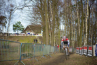 Dutch U23 champion David Van Der Poel (NLD) descending the Balenberg<br /> <br /> GP Sven Nys 2014 / U23