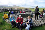 Hundreds of walkers donned their hiking boots and headed to the hills around Mount Brandon in West Kerry for the Dingle Walking Festival over the weekend. Our photograph shows some of the walkers taking a well earned break on Sunday..Picture by Don MacMonagle
