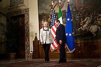 Silvio Berlusconi incontra Hillary Clinton