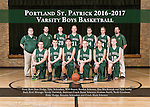2016-2017 St Patricks Boys Basketball