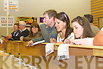 Muireann Arthurs and Sinead O'Connor share a laugh as they check the tally during the count in Mid Kerry on sunday