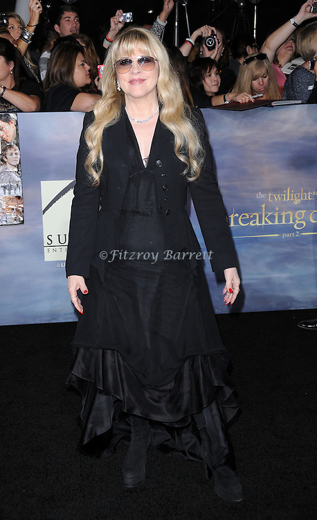 """Stevie Nicks at The World Premiere of """"The Twilight Saga: Breaking Dawn Part 2"""" at Nokia Theater L.A. Live Los Angeles,  CA. November 12, 2012"""