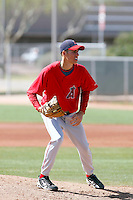 Pat Corbin, Los Angeles Angels 2010 minor league spring training..Photo by:  Bill Mitchell/Four Seam Images.