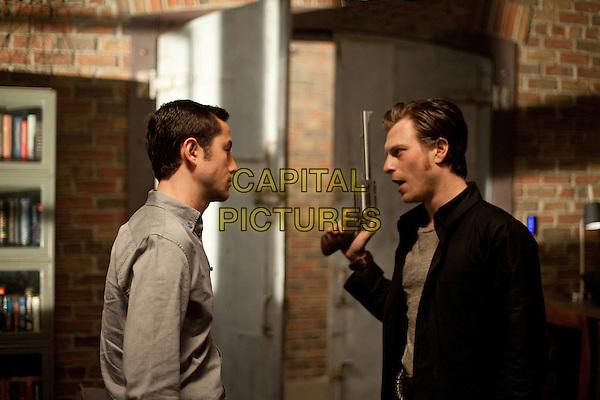 Joseph Gordon-Levitt & Noah Segan.in Looper (2012) .*Filmstill - Editorial Use Only*.CAP/FB.Supplied by Capital Pictures.