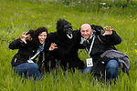 Brian, Allison and a Gorilla pose for a picture during a treasure hunt at the Caulfield/Mulryan family reunion at Ardenode Stud, County Kildare, Ireland on Sunday, June 23rd 2013. (Photo by Joe Caulfield)
