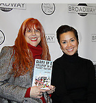 """As The World Turns Lea Salonga stars in the play """"Allegiance"""" and attends the first ever 3-day Broadway Con on January 22 - 24, 2016 at the Hilton Hotel, New York City, New York and poses with Jane Elissa. (Photo by Sue Coflin/Max Photos)"""