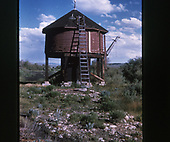 A half-height water tank at Castleton on the abandoned Baldwin branch.<br /> D&amp;RGW/C&amp;S  Castleton - Baldwin Branch, CO
