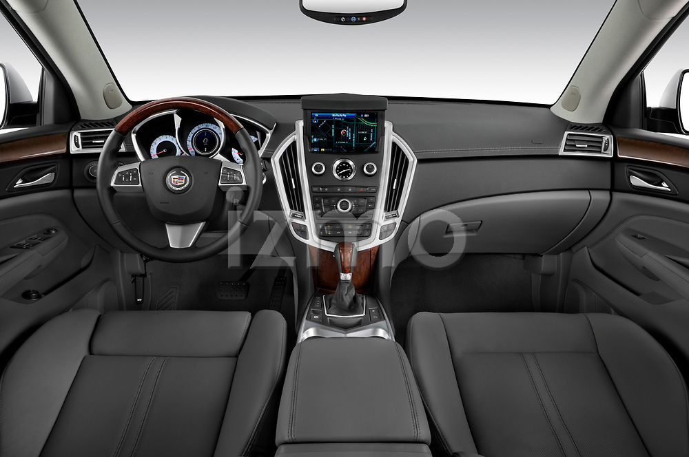 Straight dashboard view of a 2010 Cadillac SRX Performance.