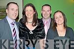 Donie, Fiona, Eddie and Martina Angland enjoying the Kiskeam GAA social in the Dromhall Hotel, Killarney on Saturday night.
