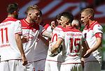 Torjubel: Kenan Karaman (F95), Andre Hoffmann (F95), Erik Thommy (F95), Rouwen Hennings (F95)<br /><br /><br />20.06.2020, Fussball, 1. Bundesliga, Saison 2019 / 2020<br />33.Spieltag, Fortuna Duesseldorf : FC Augsburg<br /><br />Foto : NORBERT SCHMIDT/POOL/ via Meuter/nordphoto<br /><br />Nur für journalistische Zwecke ! Only for editorial use .