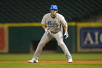 Casey Haerther #14 of the UCLA Bruins takes his lead off of first base versus the Rice Owls in the 2009 Houston College Classic at Minute Maid Park February 27, 2009 in Houston, TX.  The Owls defeated the Bruins 5-4 in 10 innings. (Photo by Brian Westerholt / Four Seam Images)