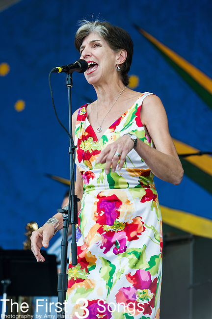 Marcia Ball performs during the New Orleans Jazz & Heritage Festival in New Orleans, LA.