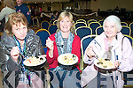 Sampling the Fish Paella cooked by Gurka Arietta of Spa Sea Foods  at the Listowel Arms Hotel on Saturday were Shelia Ahern, Moyvane, Anne Odonnell & Nora Carey, Listowel.