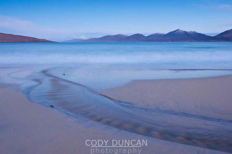 Morning light over Luskentyre beach, Isle of Harris, Outer Hebrides, Scotland