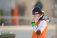 SCHAATSEN: BOEDAPEST: Essent ISU European Championships, 07-01-2012, Ireen Wüst NED na afloop van de 1500m, ©foto Martin de Jong