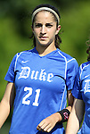09 September 2011: Duke's Gilda Doria. The Duke University Blue Devils defeated the Texas A&M Aggies 7-2 at Koskinen Stadium in Durham, North Carolina in an NCAA Division I Women's Soccer game.