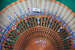 Souvenir Spanish hand fan on sale for 10 euros, city of Valencia, Spain