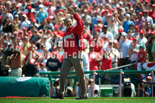 05 April 2010 - Photo by John Cheng for PhotoFile.  Washington Nationals home opener for 2010 against Philadelphia Phillys at the National Park in Washington DC.