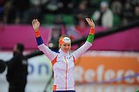 SCHAATSEN: HAMAR: Vikingskipet, 11-01-2014, Essent ISU European Championship Allround, podium 3000m Ladies, Yvonne Nauta, ©foto Martin de Jong