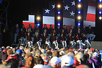 The USA Team during the Opening Ceremony of the Solheim Cup 2019 at Gleneagles Golf CLub, Auchterarder, Perthshire, Scotland. 12/09/2019.<br /> Picture Thos Caffrey / Golffile.ie<br /> <br /> All photo usage must carry mandatory copyright credit (© Golffile | Thos Caffrey)