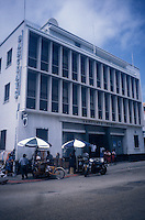 Barclay's Bank building in downtown Belize City, Belize