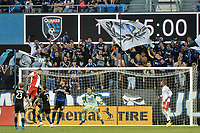 San Jose, CA - Wednesday June 13, 2018: Andrew Tarbell during a Major League Soccer (MLS) match between the San Jose Earthquakes and the New England Revolution at Avaya Stadium.