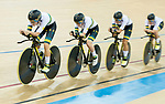The team of Australia with Amy Cure, Ashlee Ankudinoff, Alexandra Manly and Rebecca Wiasak competes in the Women's Team Pursuit Finals as part of the 2017 UCI Track Cycling World Championships on 13 April 2017, in Hong Kong Velodrome, Hong Kong, China. Photo by Marcio Rodrigo Machado / Power Sport Images