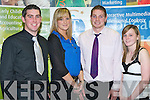 SCHOLARSHIPS: Receiving their Scholarships at the ITT Sports and Academic Scholarships Awards in the North campus on Thursday l-r: David Culloty (Munster Bursaries Football Scholarship), Sorcha Holmes (ITT Sports Scholarship), Gary O'Driscoll (ITT Football Scholarship) and Emma Gallagher (ITT Sports Scholarship).    Copyright Kerry's Eye 2008