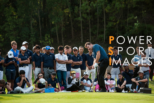 Players clinic with SNF after day 2 of the 9th Faldo Series Asia Grand Final 2014 golf tournament on March 19, 2015 at Mission Hills Golf Club in Shenzhen, China. Photo by Xaume Olleros / Power Sport Images