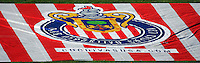 CD Chivas USA logo on the grass area at the North end of the Home Depot Center. CD Chivas USA defeated the New York Red Bulls 3-0 in an MLS regular season match at the Home Depot Center, Carson, CA, on September 9, 2007.