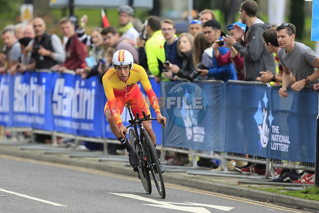 Nicolas Jonathan Castroviejo (ESP) in action during the Men Elite Individual Time Trial of the UCI World Championships 2019 running 54km from Northallerton to Harrogate, England. 25th September 2019.<br /> Picture: Eoin Clarke | Cyclefile<br /> <br /> All photos usage must carry mandatory copyright credit (© Cyclefile | Eoin Clarke)
