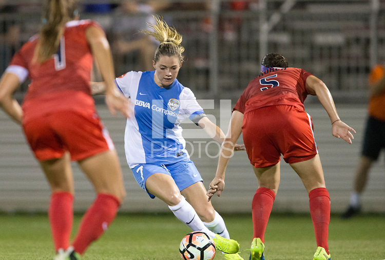 Boyds, MD - Saturday April 29, 2017: Kealia Ohai during a regular season National Women's Soccer League (NWSL) match between the Washington Spirit and the Houston Dash at Maureen Hendricks Field, Maryland SoccerPlex. The Dash won 1-0.