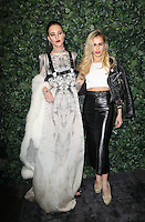 Eliza Cummings and Alice Dellal<br /> at the 2017 Charles Finch & CHANEL Pre-Bafta Party held at Anabels, London.<br /> <br /> <br /> ©Ash Knotek  D3227  11/02/2017