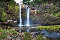 Wailua Falls on the island of Kauai