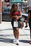 .June 12th 2012 ...Angela Simmons leaving a nail salon in Beverly Hills carrying a .Brown leather Louis Vuitton purse ..AbilityFilms@yahoo.com.805-427-3519.www.AbilityFilms.com..