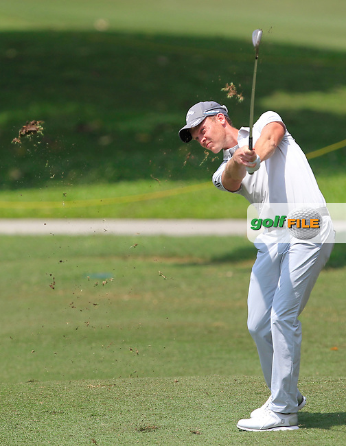 Danny Willett (ENG) in action on the 3rd fairway during Round 1 of the Maybank Championship at the Saujana Golf and Country Club in Kuala Lumpur on Thursday 1st February 2018.<br /> Picture:  Thos Caffrey / www.golffile.ie<br /> <br /> All photo usage must carry mandatory copyright credit (© Golffile   Thos Caffrey)