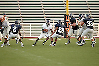 SAN ANTONIO, TX - SEPTEMBER 15, 2010: The University of Texas at San Antonio Roadrunners Football team holds their first full scrimmage at the Dub Farris Athletic Complex. (Photo by Jeff Huehn)