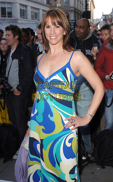 ANDREA McLEAN.attending the LK High Street Fashion Awards, Cafe de Paris, London, England, 14th May 2007..half length green  and blue pucci style print dress hand on hip.CAP/BEL.©Tom Belcher/Capital Pictures.