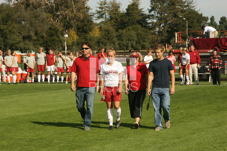 4 November 2007: Shari Summers on Senior Day during Stanford's 2-1 overtime win over Washington State at Laird Q. Cagan Stadium in Stanford, CA.