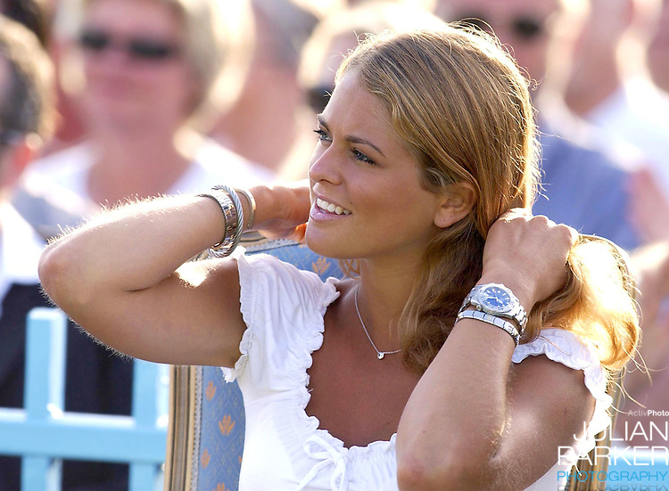 CONCERT IN BERGHOLM TO CELEBRATE CROWN PRINCESS VICTORIA.OF SWEDEN'S 25TH BIRTHDAY.  14/7/02 . PICTURE: UK PRESS  (ref 5105-38).PRINCESS MADELEINE OF SWEDEN.
