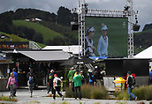 29th September 2017, Windross Farm, Auckland, New Zealand; LPGA McKayson NZ Womens Open, second;  Live golf action on the big screen in the fan zone