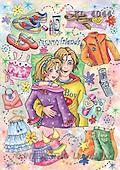 Interlitho, Dani, TEENAGERS, paintings, trendy friends(KL4044,#J#) Jugendliche, jóvenes, illustrations, pinturas ,everyday